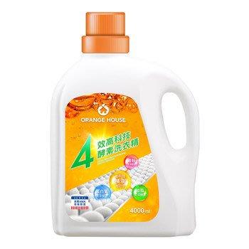 【艾莉生活館】COSTCO 橘子工坊 四效酵素洗衣精(4000ml/罐)《㊣附發票》