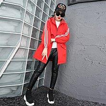 【Lady Luck服飾】大碼女裝2018新款胖mm冬裝韓版簡約寬松字母顯瘦大衣棉服外套時尚