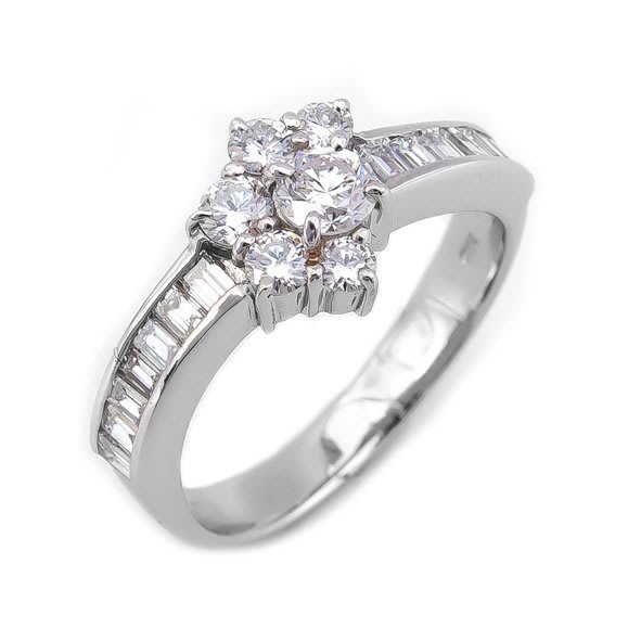 【JHT 金宏總珠寶/GIA鑽石專賣】1.00ct天然鑽石造型戒/材質:PT900(JB39-B08)