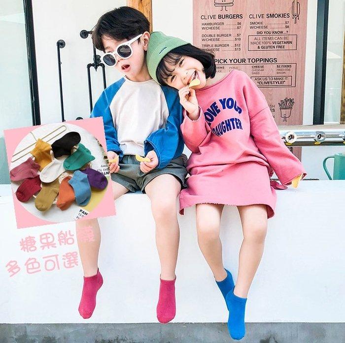 【小阿霏】兒童短襪 男孩女孩純色糖果色船襪 男童女童夏日短襪子 中小中大童尺碼PA69
