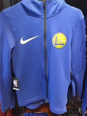 [飛董] NIKE NBA 金洲勇士隊 連帽外套 899841 495 藍