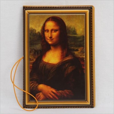 ANLIFE》護照夾 個性創意立體壓紋 護照套 旅行護照包 蒙娜麗莎 名畫 G9101