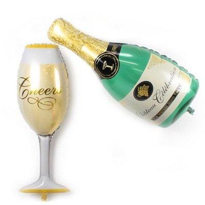 小香檳 迷你愛情小鋁箔氣球 /錫箔汽球 婚禮生日派對 祝賀禮物 佈置 求婚告白 兒童氣球 婚禮小物 二次進場