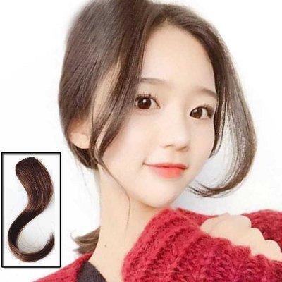 真髮瀏海片墊髮片插入式韓式真髮手織隱形長瀏海 單卡容易配戴三色可選輕盈可染可燙【手之髮】