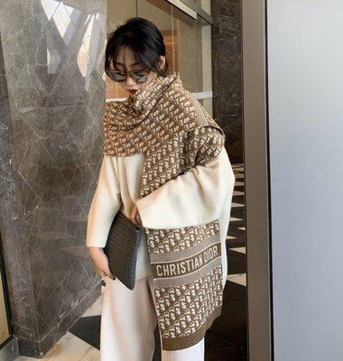 【英國連線代購】Dior CD OBLIQUE STOLE 羊絨混羊毛 老花圍巾 免運至12/26