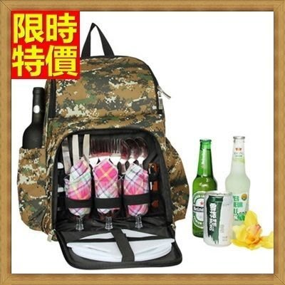 野餐包 2人餐具組 雙肩後背包-迷彩系列雙肩手提實用具外觀野餐包 68ag16[獨家進口][米蘭精品]