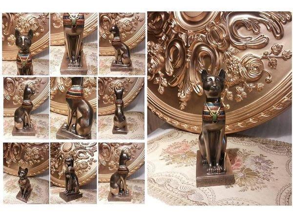 [ 【預購品】 設計家作品 手工彩繪-貝斯特 芭絲特 聖貓神 22 cm. 高 ]-Egypt埃及古文明