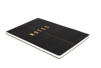 [要預購] 英國代購 瑞典KIKKI.K 簡約風筆記本 A4 黑色