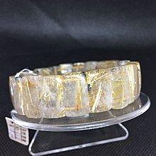 招財開運 帶母礦鈦晶 重61.3克 寬18咪 手圍20 編號A39