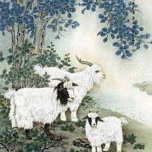 【幸運星】開運 風水畫 三隻羊 三陽開泰 辦公室 居家裝飾 0523 國畫 137*67cm 畫芯 B97