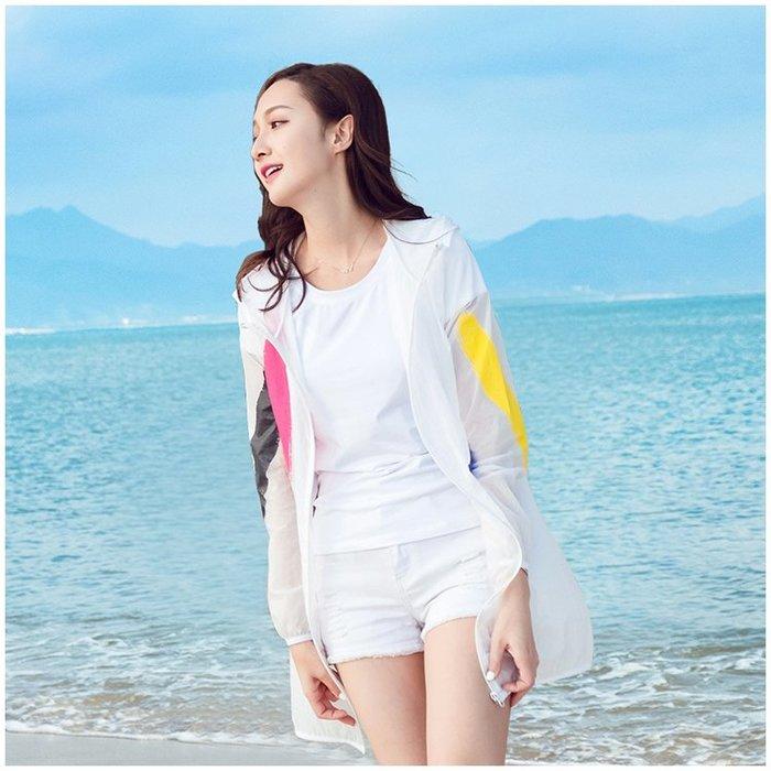 防曬衣女夏季新款中長款防紫外線韓版海邊沙灘服長袖薄款外套