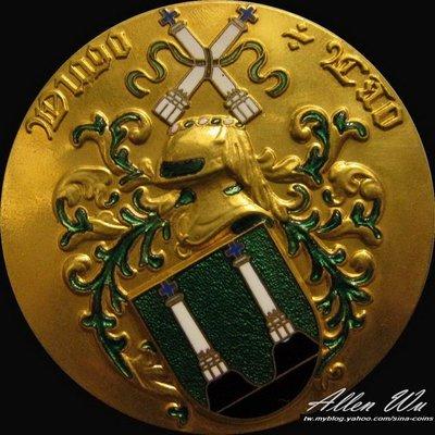 精美皇室鍍金琺瑯章 葡萄牙高浮雕大銅章 [龍薈集藏]