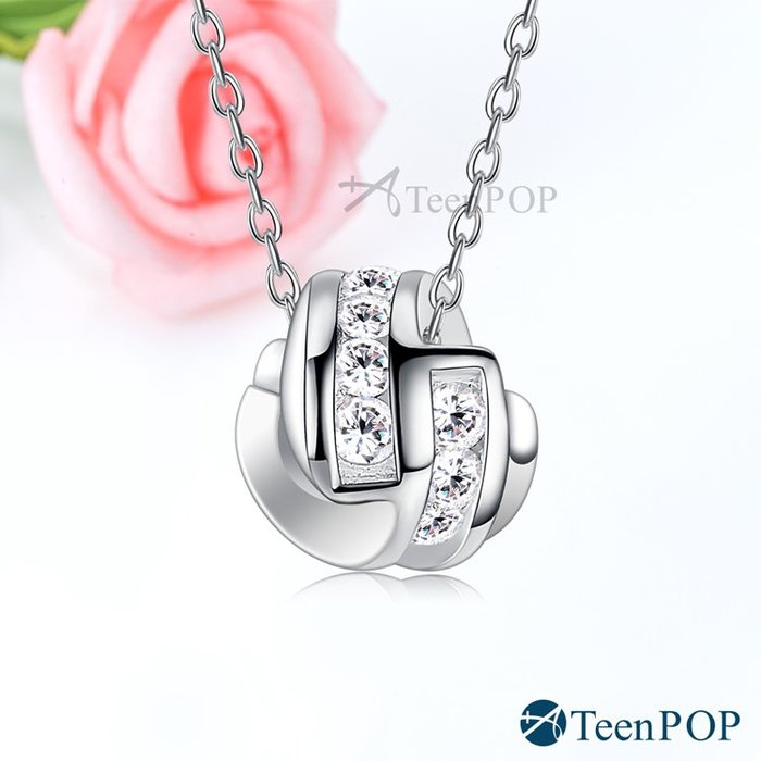 925純銀項鍊 ATeenPOP 甜美吸引力 附純銀鍊 鎖骨鍊 聖誕節禮物 ACS7119