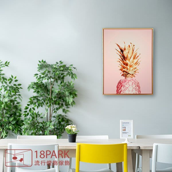 【18Park 】精緻細膩 pineapple [ 畫說-粉紅鳳梨70*100cm ]