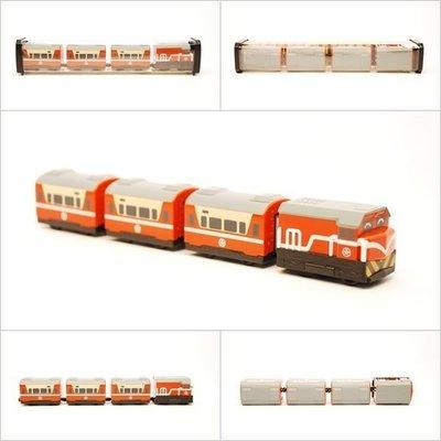 【喵喵模型坊】TOUCH RAIL 鐵支路 Q版 台鐵R100(橘)莒光號小列車V (QV007T1)