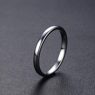 戒指 925銀戒指男 潮人時尚簡約單身食指尾戒小拇指環韓版細窄戒子刻字 時尚搬運工