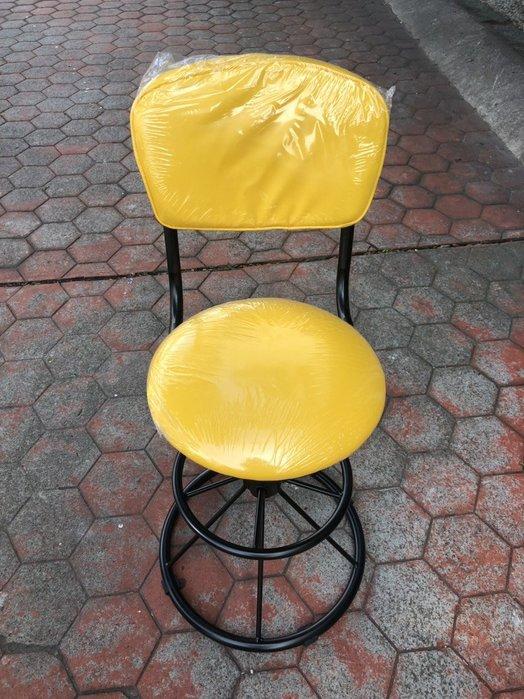 非凡二手家具 全新品 雅士吧檯椅(黃)*吧台椅*油壓椅*高腳椅*旋轉椅*休閒椅*餐椅*洽談椅*接待椅*升降椅