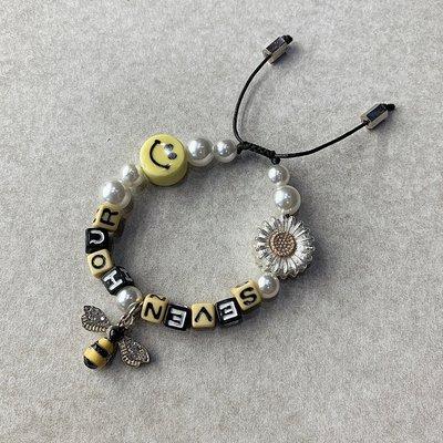 【inSAne】SEVEN HOUR / 小蜜蜂 / 珍珠 / 笑臉 / 雛菊 / 手環 / 可調整 / 單一尺寸