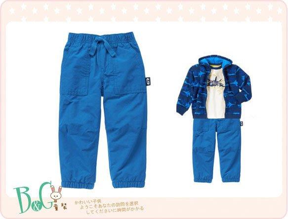【B& G童裝】正品美國進口GYMBOREE Fleece-Lined Pants 藍色內軟刷毛長褲2yrs