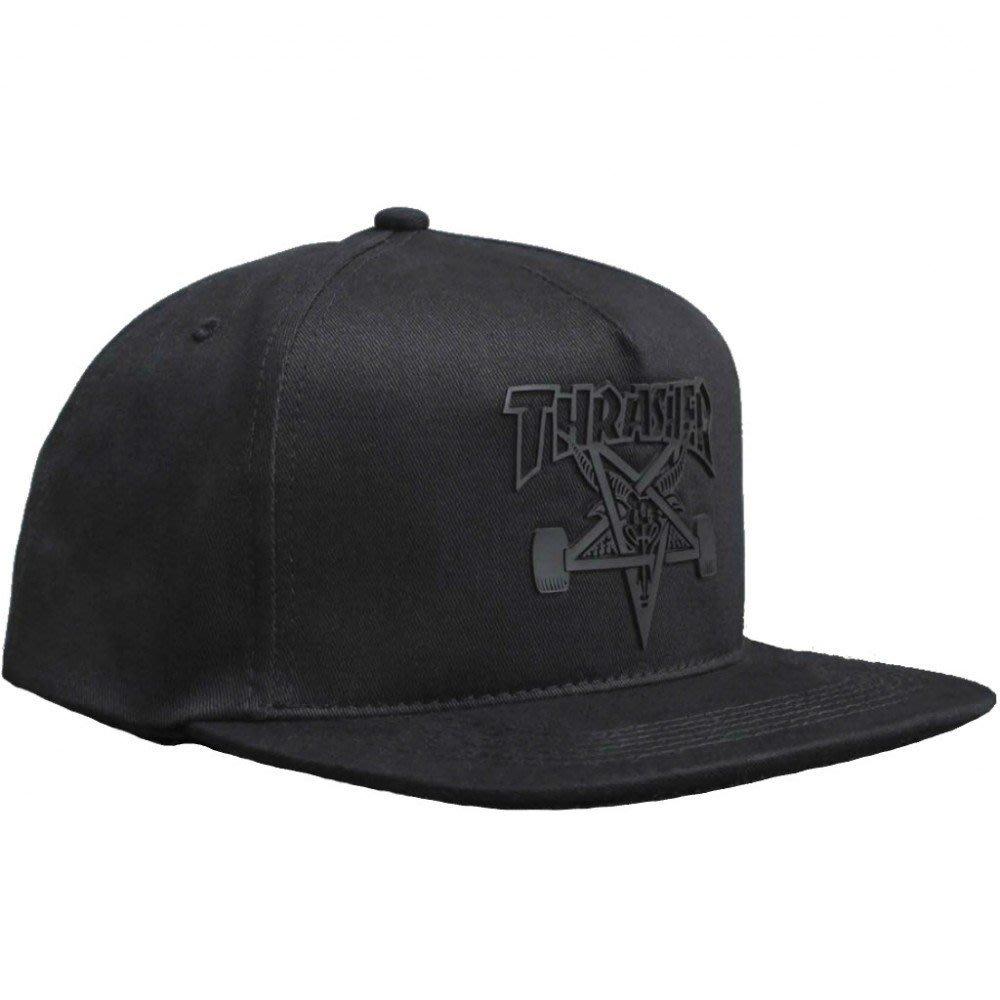 【THRASHER】Skategoat sonic weld Snapback帽子(黑色)