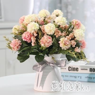 仿真盆栽花玫瑰花藝套裝花卉盆栽含花瓶假花裝飾絹花客廳餐桌擺件  XY4942