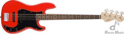 【羅可音樂工作室】Squier by Fender Affinity系列 P-Bass 電貝斯 RCR 紅色