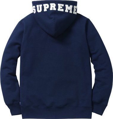 2015AW Supreme felt hood logo zip-up sweat  開季 現貨
