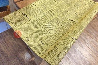 (缺貨)包裝紙78x53cm_牛皮英文 NEWS LETTER_2323800◎非食品包裝紙.包裝紙.包裝.材料.需折疊