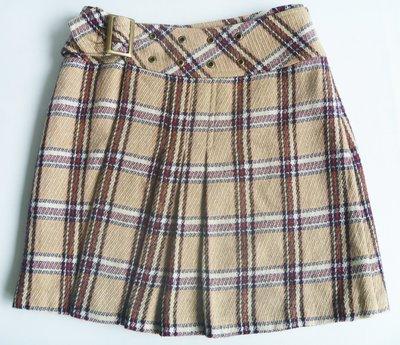 專櫃IENA毛料格紋短裙 (非scottish -moma-iROO-銀穗-瑪芝蜜)3F架【290含郵】