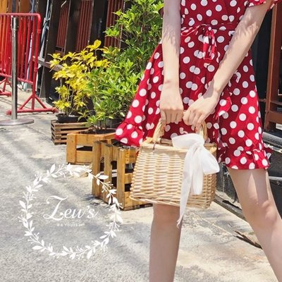 【ZEU'S】韓國夏日火紅新款手提竹編小方包『 05119405 』【現+預】E