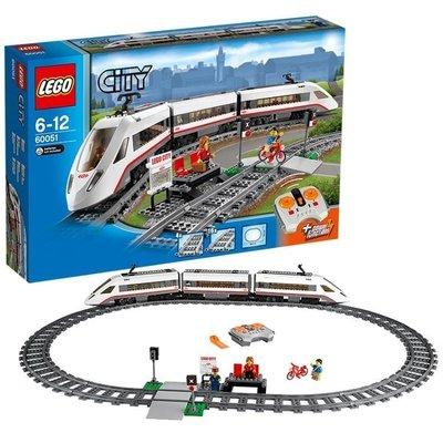 樂高城市系列 60051 高速客運列車 LEGO City 積木玩具趣味  #Y3032#