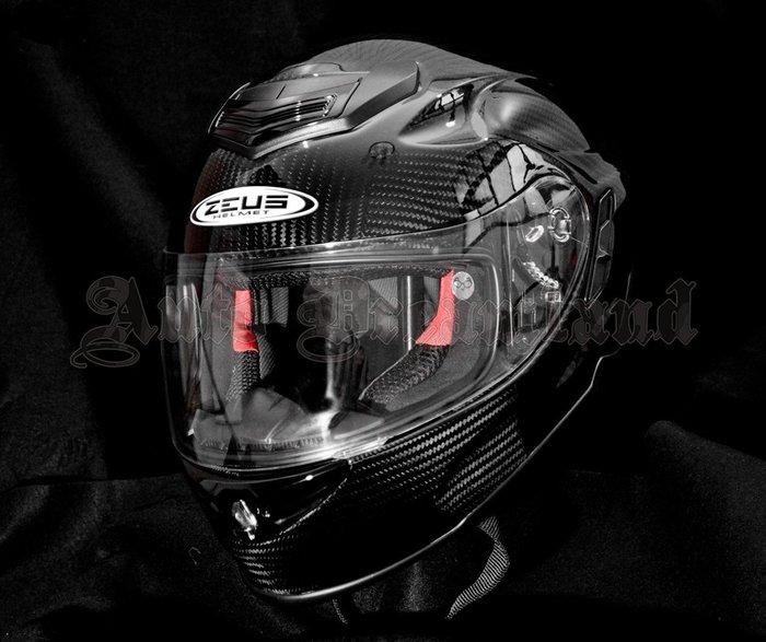 ZEUS 瑞獅 ZS-1600 碳纖維 Carbon 卡夢 極輕量 雙層 內墨片 全罩式 安全帽 可加購電鍍片 尺寸XL