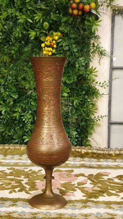 【卡卡頌  歐洲古董】歐洲帶回  純銅老件  手工雕刻   銅花瓶   m0853