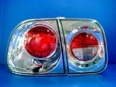 小亞車燈╠ 全新 喜美 K8 96年 4門 4D 大圓 晶鑽 尾燈 特價2200