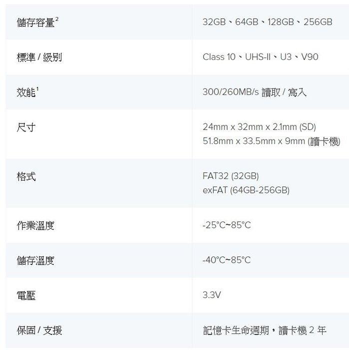 金士頓 Kingston MLPR2 附讀卡機 SDXC UHS-II 讀取 300MB/s 64GB 記憶卡 64G