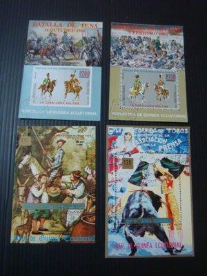 【大三元】各國專題郵票-馬類~小全張10張~~銷戳票(盒13)