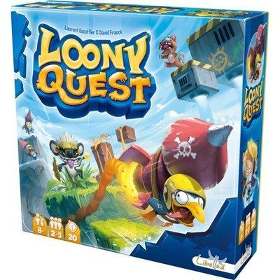 大安殿桌遊 免運 怪物仙境 塗鴉任務+失落城市擴充 Loony Quest+The Lost City 繁體中文正版桌遊