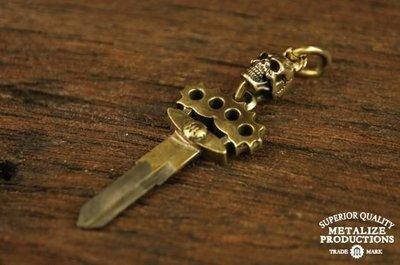 (I LOVE樂多)METALIZE F.T.W SKULL key handle F.T.W SKULL手指虎鑰匙(改