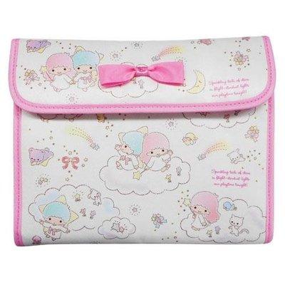 尼德斯Nydus~* 日本正版 三麗鷗 雙子星 Kiki Lala 雙星仙子 零錢包 證件夾 護照套 多用途手拿包 手帳