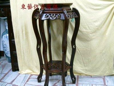 東藝仿古傢俱~~雞翅木88六腳花台(有高有低)兩種尺寸88/60