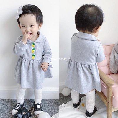 `惗.Study溡光 女嬰兒7連衣裙子8寶寶夏裝3公主裙4春秋裝5女童6嬰幼兒0歲1個月9