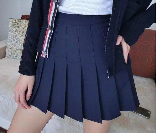 Thom Browne  摺裙黑色學院風學生妹百褶裙