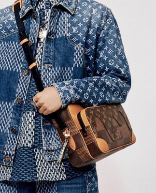 Louis Vuitton LV N40369 NIL MESS PM D.G. WAVE MNG 肩背包
