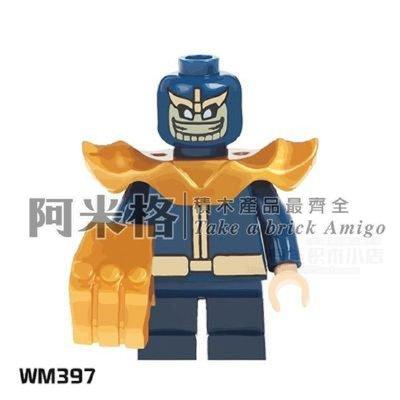 阿米格Amigo│WM397* 薩諾斯 Thanos 復仇者聯盟 超級英雄反派 積木 第三方人偶 非樂高但相容 袋裝