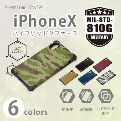 尼德斯Nydus 日本正版 素色 迷彩 黑 TPU軟殼 軍規防護設計 四角強化 手機殼  iPhoneX