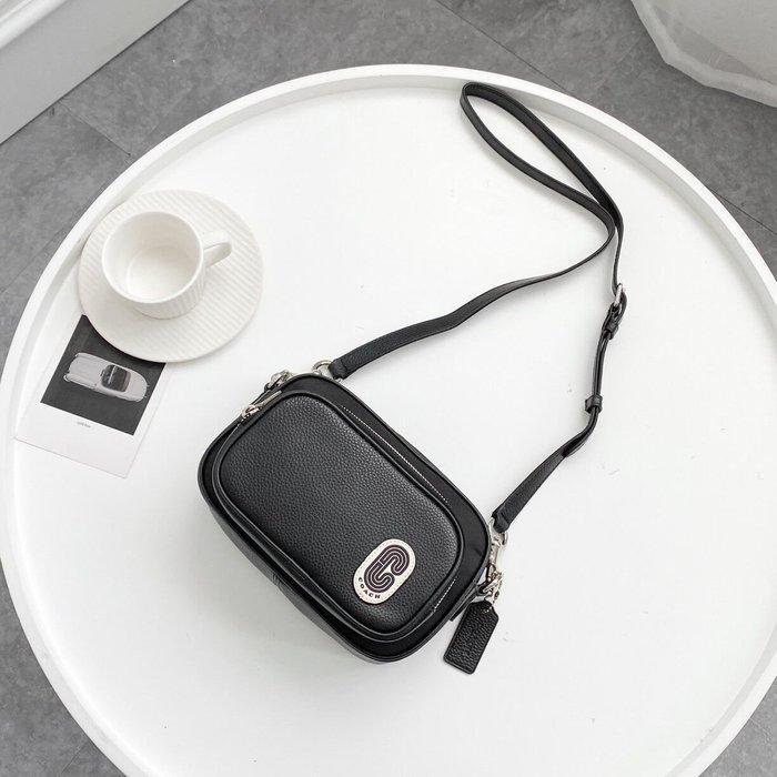 美國名品折扣店~ 特賣 COACH 91065 新款雙層拉鏈相機包 單肩包 斜跨包 手機包