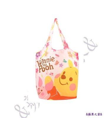 &蘋果之家&7-11櫻花款大容量購物袋-維尼