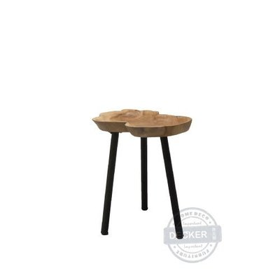【Decker • 德克爾家飾】原生態家居 森林原木家具 邊桌邊几 印尼柚木家具 樹盤小邊几