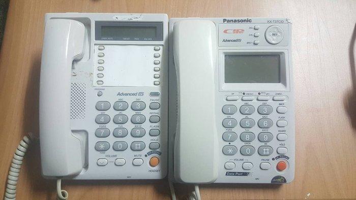 ☆手機寶藏點☆ Panasonic 國際牌 kx-T73CID 家用電話 功能正常 咖01