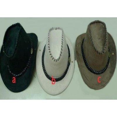 M40【派對樂】生日派對/舞會用品變裝道具牛仔裝扮-----麂皮牛仔帽